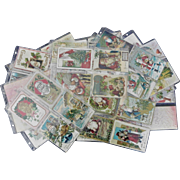 Collection of 272 Christmas Santa Claus Postcards