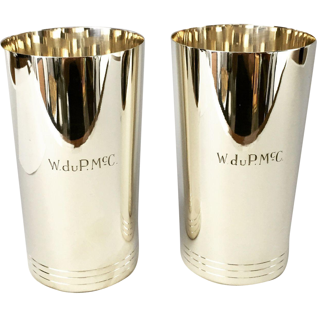Pair of Vintage Tiffany & Co. Mint Julep Cups with Monogramming