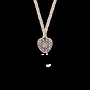 Romantic 14K Edwardian Diamond and Pearl Heart Locket Pendant
