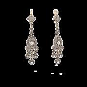Late Victorian Diamond and Pearl Drop Earrings