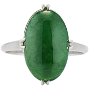Fine Natural Jadeite Ring - Certified Untreated Jade by Mason Kay