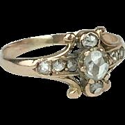 Dainty 14K Antique Rose-Cut Diamond Ring