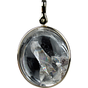 Handcrafted 14K Quartz in Quartz Crystal Pendant