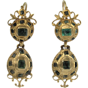Iberian Gold and Emerald Earrings