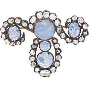 Man in the Moon - Moonstone and Diamond Brooch 3.80 total carats