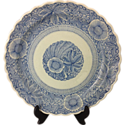Japanese Antique Edo Period KO-IMARI Porcelain Plate, Sometuke, SEN-GAKI Style