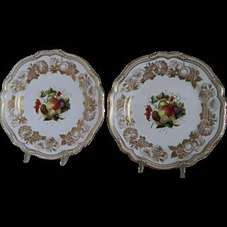"Matching Pr. Spode Porcelain Plates ""Golden Valley Pattern"" 10 3/4"""
