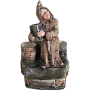 "Antique Majolica Tobacco/Match Strike Figure ""Monk by the Well"""