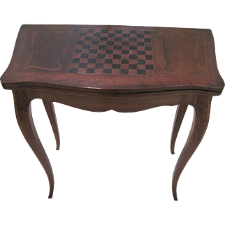 Vintage French Fruitwood Card Table - Louis XV Style - Sale Pending
