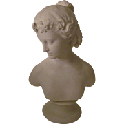 "Lovely Parian Ware Statue ""Young Woman"" -Signed Copeland"