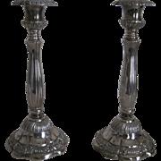Pr. Vintage Silver Candlesticks by Godinger