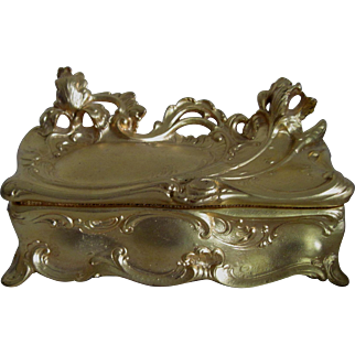 Large Art Nouveau Jewelry Casket - Jennings Bros.