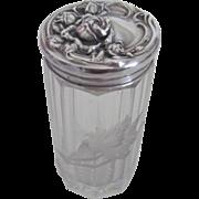 Exquisite Cut Glass/Sterling Silver Dresser Jar