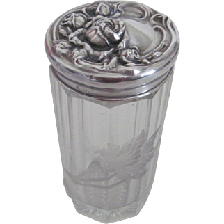 Exquisite Cut Glass/Sterling Silver Dresser Jar
