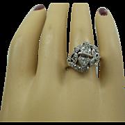 Gorgeous Original Art Deco 1920s Solid Platinum and Fine Diamonds Dinner Ring....Approx. 1 Carat Total