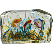 Mid-Century Glass Block Fish Aquarium Murano Cenedese