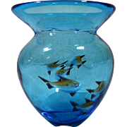 Mid-Century Murano Art Glass Aquarium Fish Vase