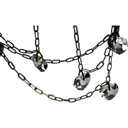 Sparkling Crystal Heart Dangles Necklace Valentine's Day