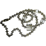 Sparkling Glass Cubes Necklace 10K Gold Filled Chain