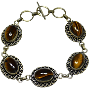 Sterling Tiger's Eye Bracelet