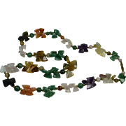 Heavy Polished Semi-Precious Stone Necklace