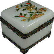 Outstanding Chinese Peking Glass Casket Opaline Box