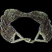 Vintage 80ct Champagne Quartz Diamond 18K Gold Bracelet Estate