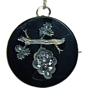 Antique Rose cut Diamonds Branch Pin Brooch Pendant 14K Gold Estate