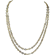 """Vintage 18K Yellow Gold 19"""" Double Row Chain Necklace Estate Jewelry"""
