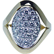 Kurt Wayne Vintage Diamond Ring 18K Gold Platinum Designer Signed Estate Jewelry