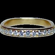 Designer JFA Diamond 18K Gold Ring Band Jean Francois Albert