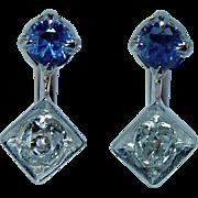Antique Old Miner Diamond Earrings 14K Gold DORMEUSES French Estate Dainty