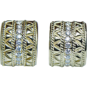Vintage H Stern Diamond Earrings 18K Gold HEAVY Estate