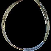 Vintage 18K Gold Diamond Collar Necklace Estate High Quality