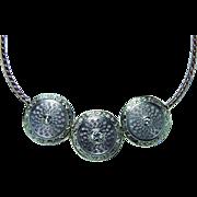 ART DECO 14K White Rose Gold Old European Diamond Necklace Vintage Estate
