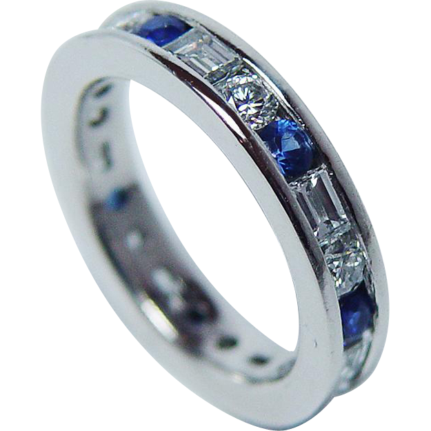 dia ring packouz jewelers band bands products diamond baguette eternity platinum plat oscar heyman
