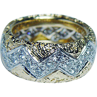 Vintage Tiffany & Co 1.5ct Diamond Full Eternity Ring 18K Gold Heavy Size 6-6.25