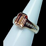 H. STERN Imperial Topaz Diamond 18K Gold Ring Designer Signed Estate 3.5ct