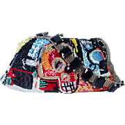 VALENTINO Garavani Jean-Michel Basquiat Limited Edition Evening Sequin Handbag