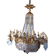 Old Louis XVI style gorgeous chandelier