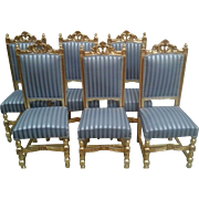 SET OF 6 FRENCH DINING CHAIRS FROM AROUND 1900s