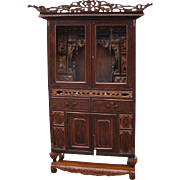 lovely vitrine made from fruit wood in 19th century
