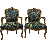 pair of two original Louis XVI chairs