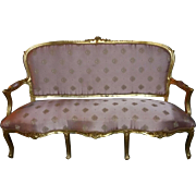 Elegant sofa made in Louis XV style