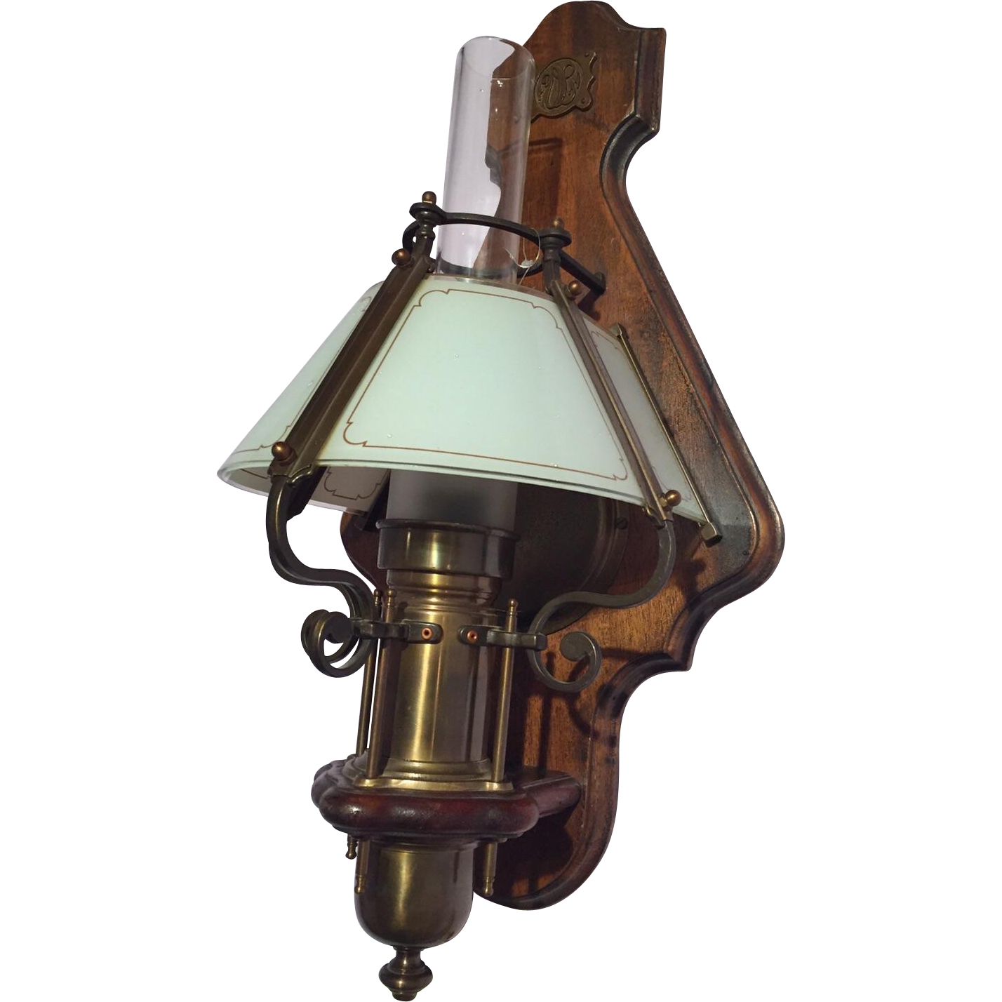Antique Wood Wall Lamps : Very nice old wooden wall lamp from maisondantique on Ruby Lane