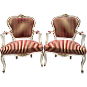 pair of two chairs, Louis XVI, French style