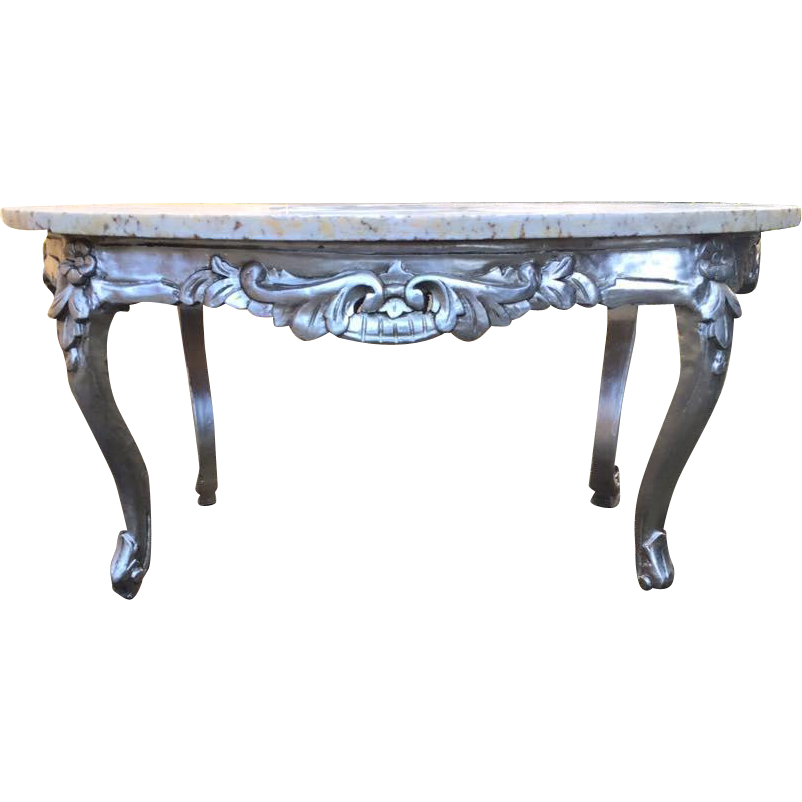 One silver coffee table in italian style from maisondantique on ruby lane Tuscan style coffee table