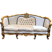 lovely decorated old French living room sofa.