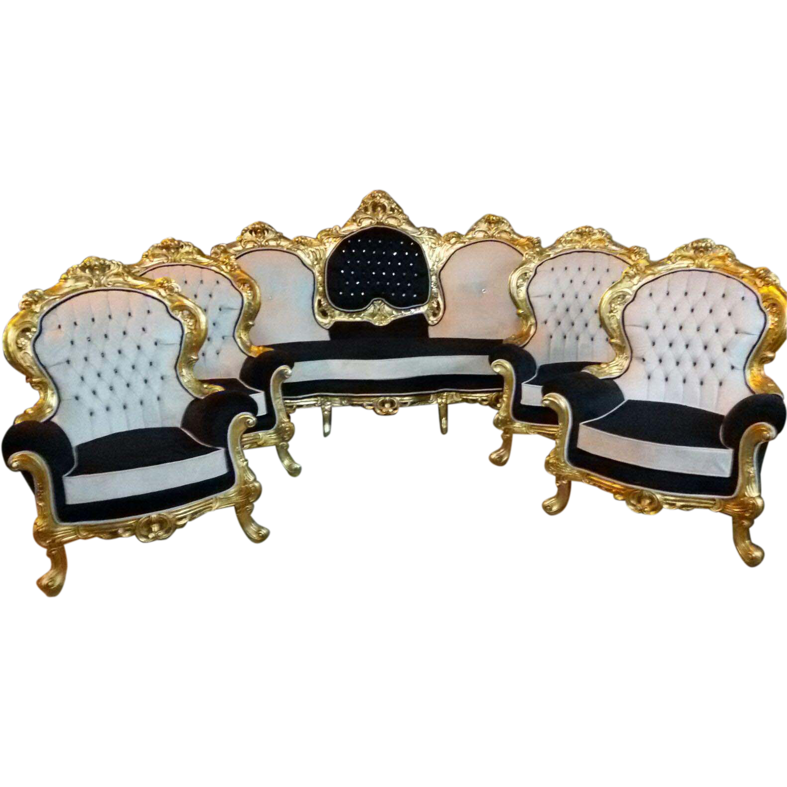 Baroque 5 piece living room set from maisondantique on for 5 piece living room set