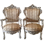 Two very nice old unique Baroque style chairs